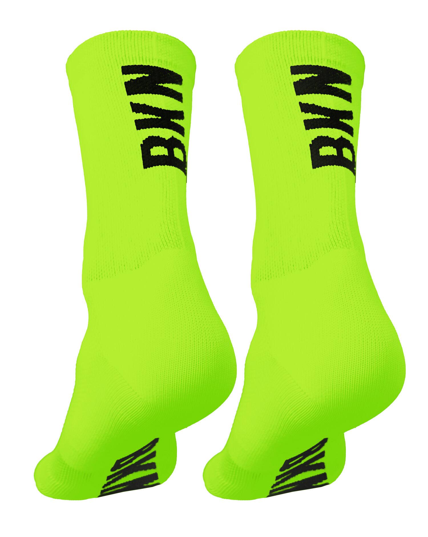 BKN Solid Fluro GREEN Socks