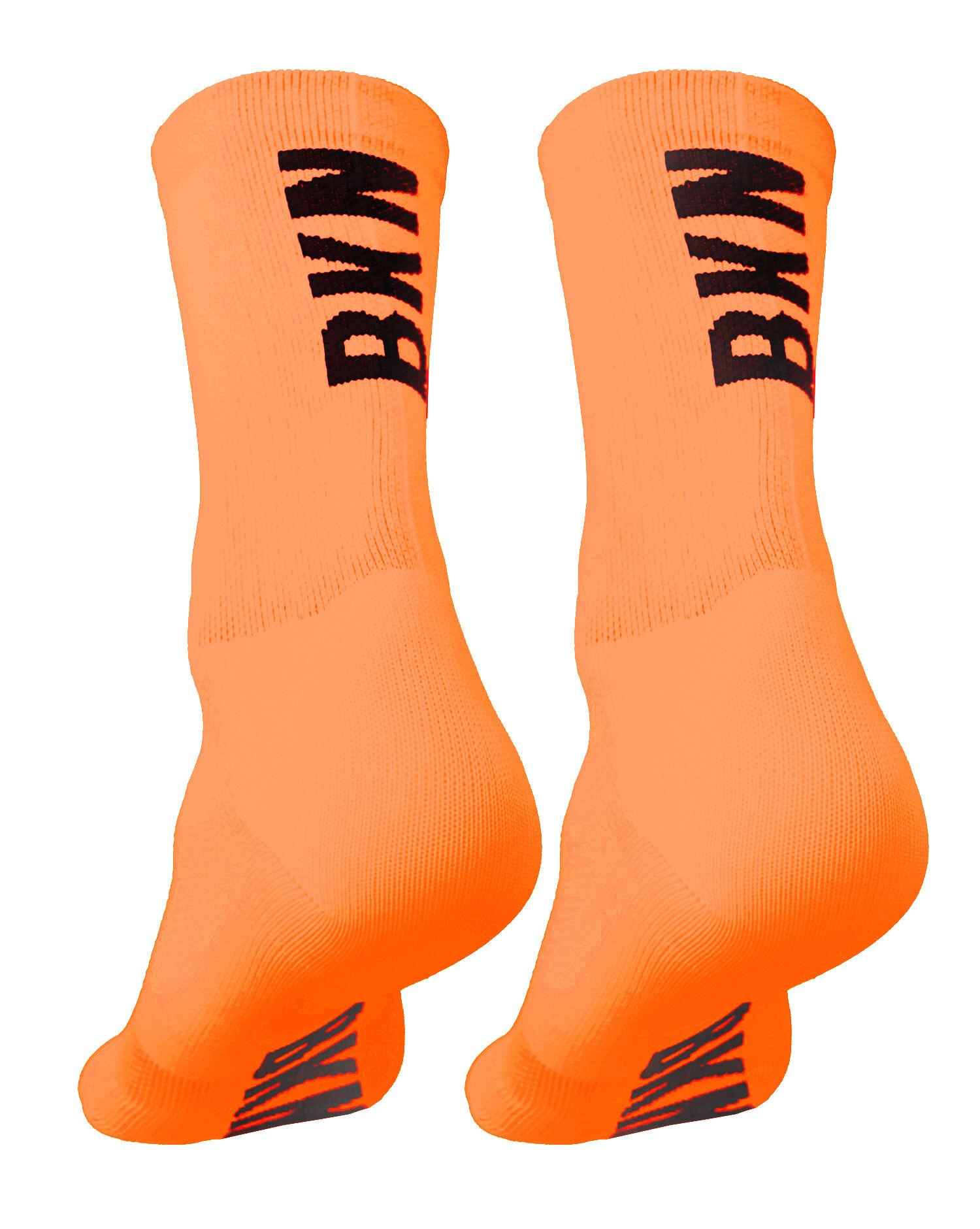 BKN Solid Fluro ORANGE Socks