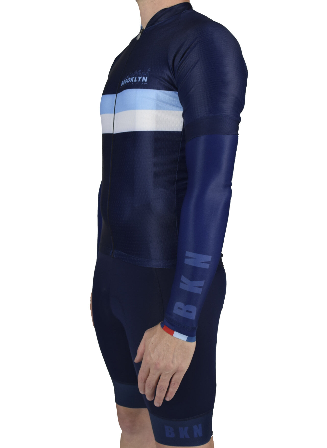 Navy Arm Warmers Full Kit side view