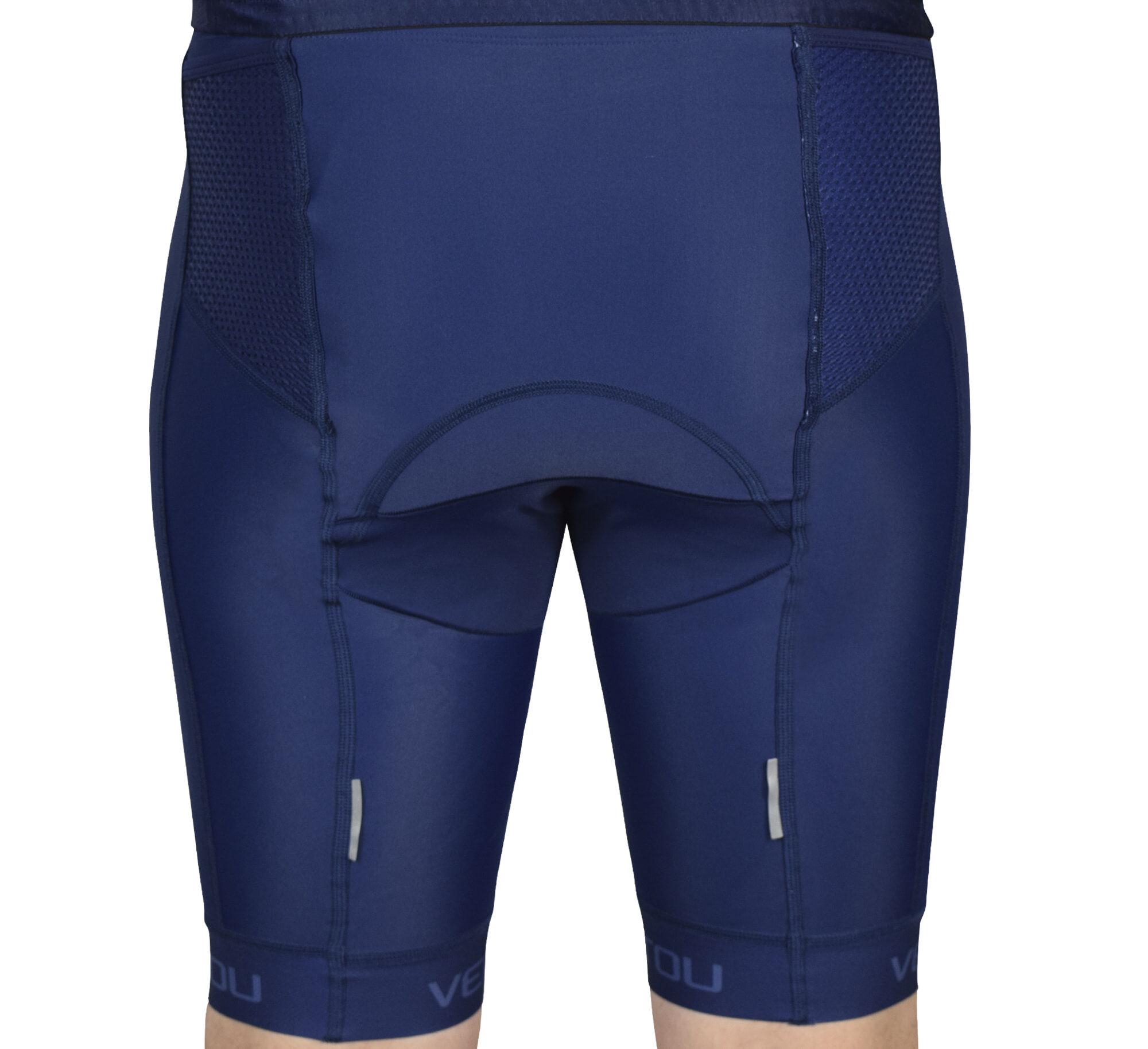 Navy Tri Shorts Back