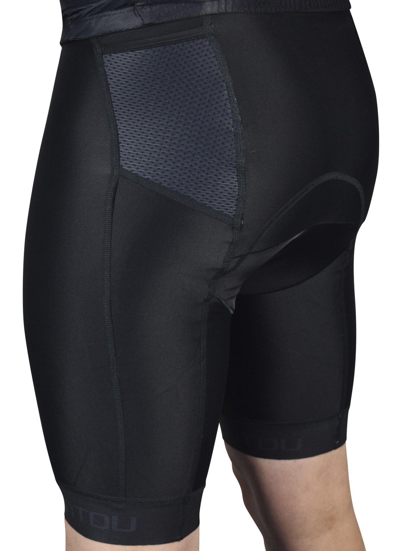 Black Tri Shorts Side