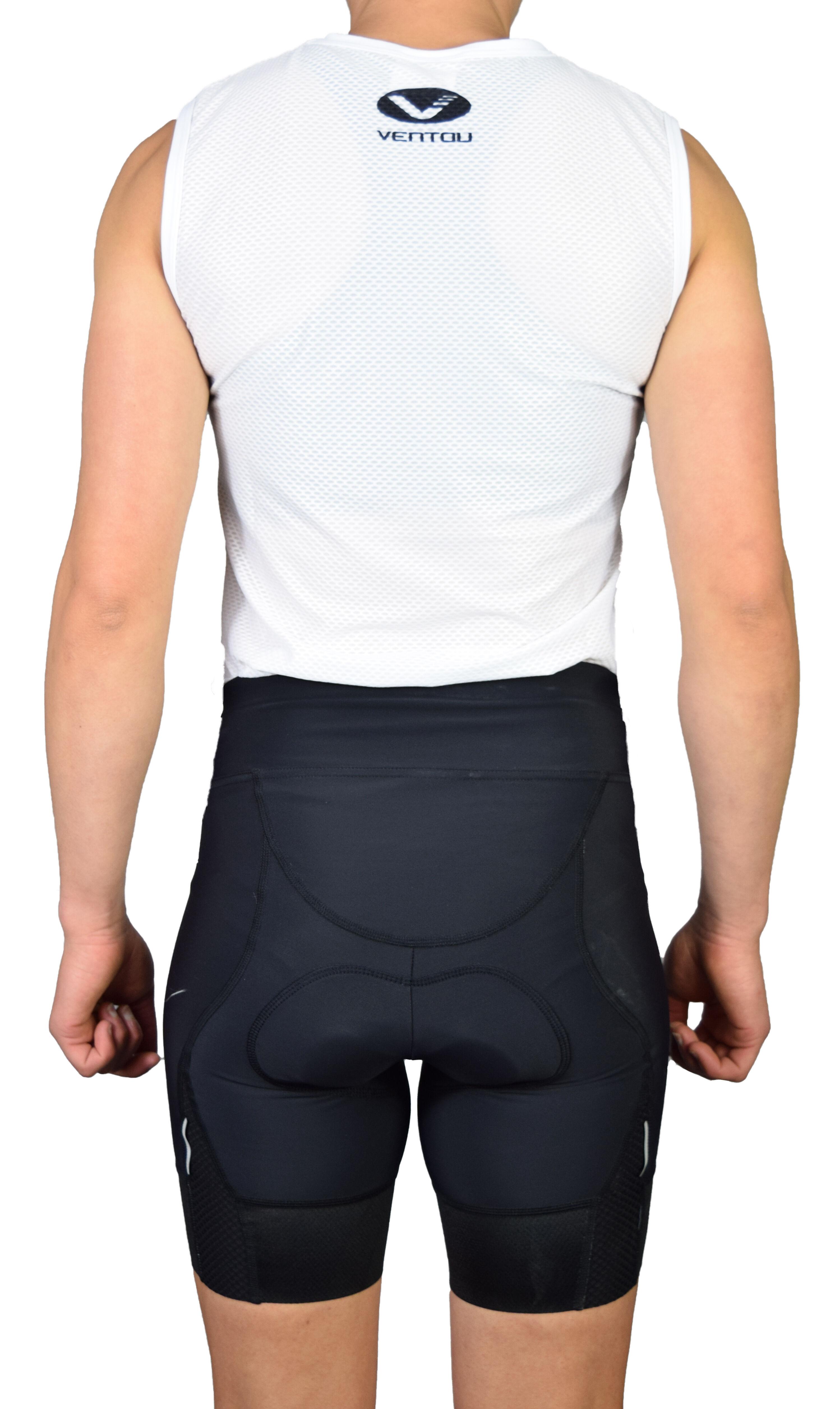 Undershirt Black short Tucked inBACK