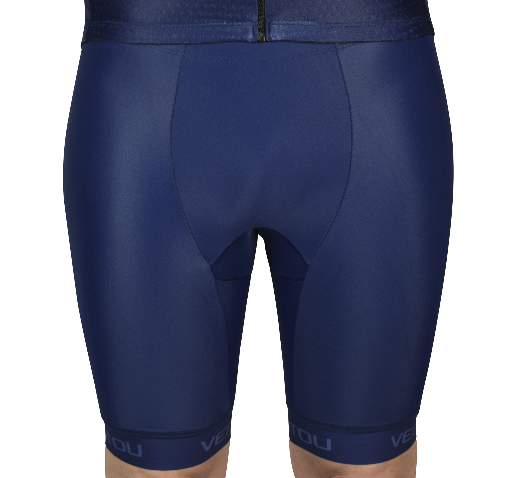 Navy Tri Shorts Front 3