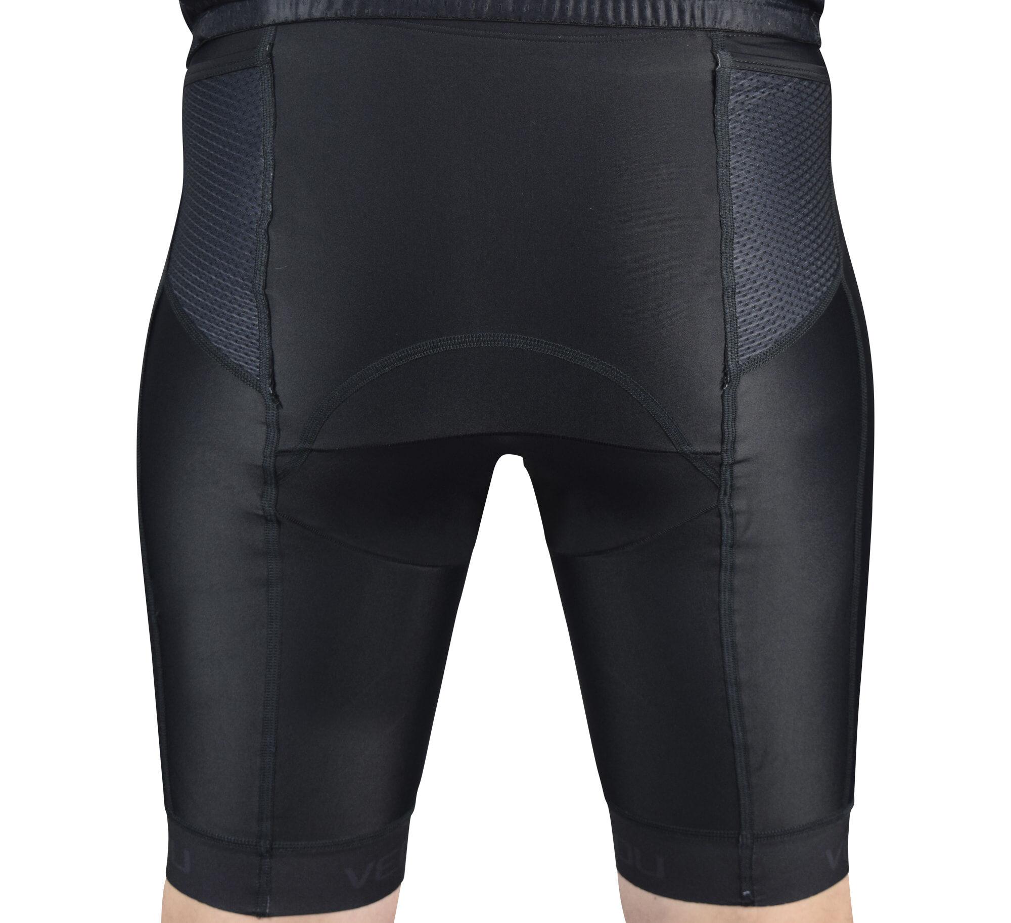 Black Tri Shorts Back