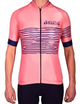 Coral Zebra Jersey front