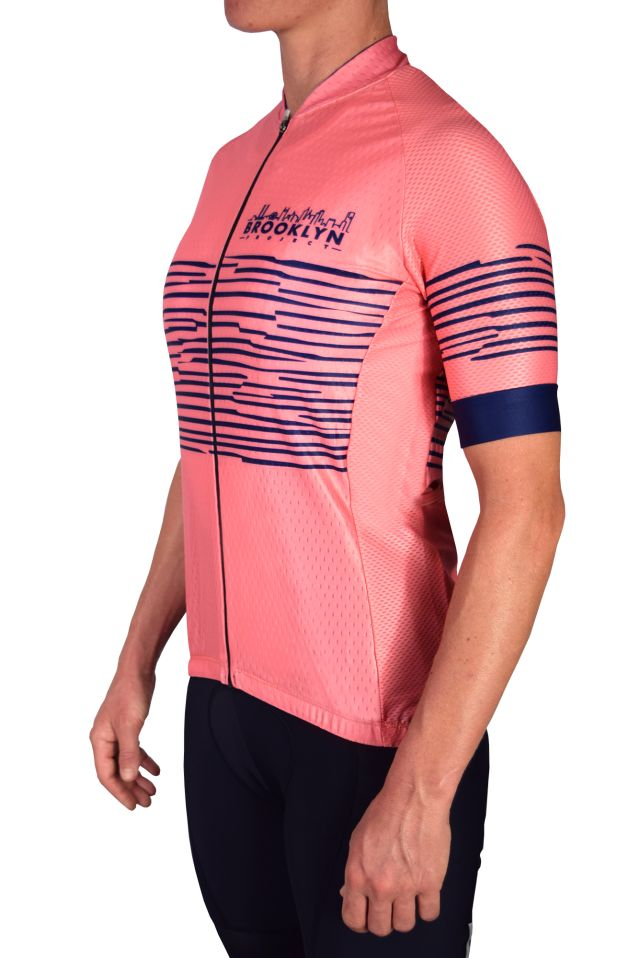 Coral Zebra Jersey side view