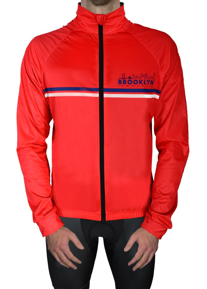 Brookly Red Jacket Front