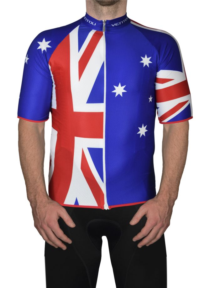 Aussie cycling jersey Front