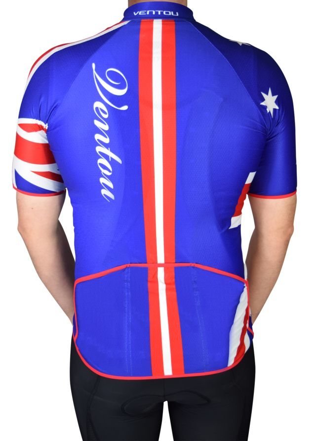 Aussie cycling jersey Back