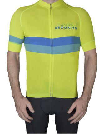 BKN Yellow Blue Stripe Mens Front