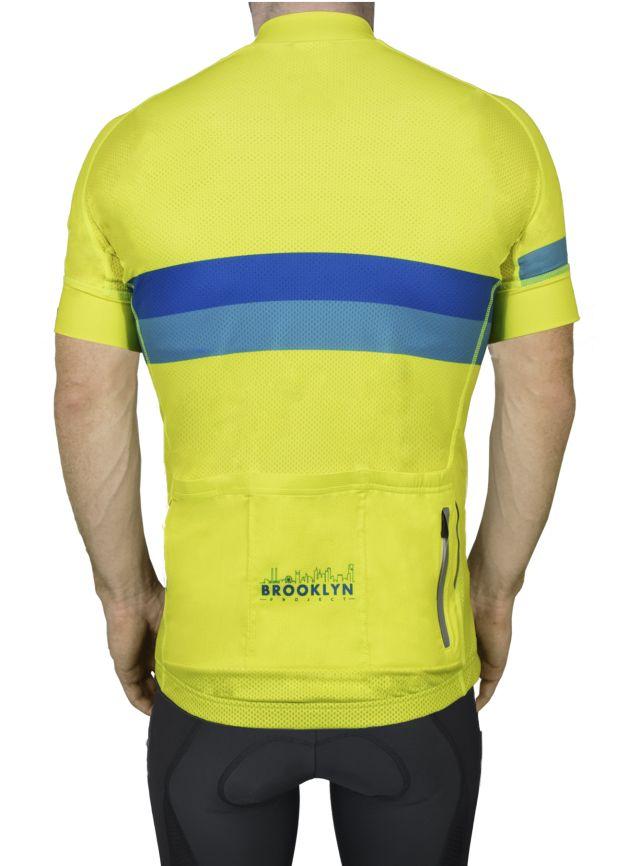 BKN Yellow Blue Stripe Mens Back Lyndon