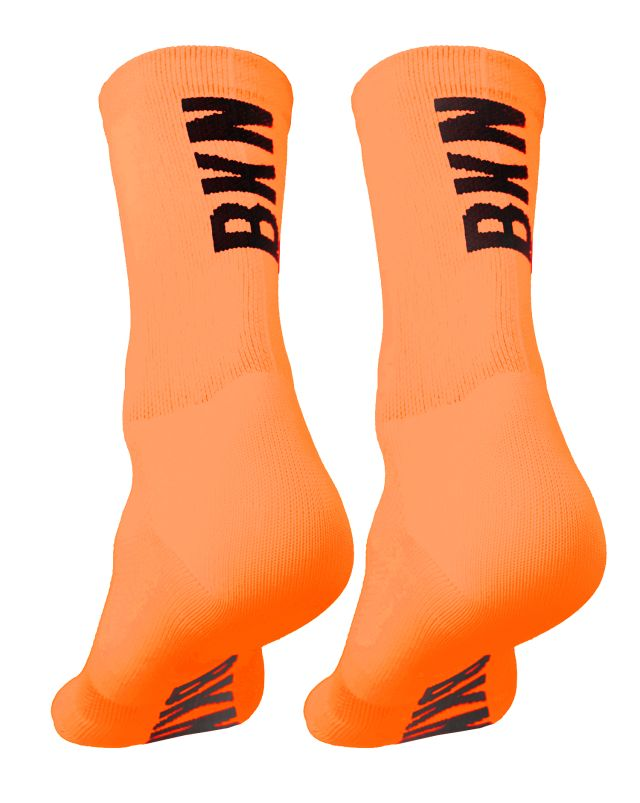 BKN Solid Fluro ORANGE Socks
