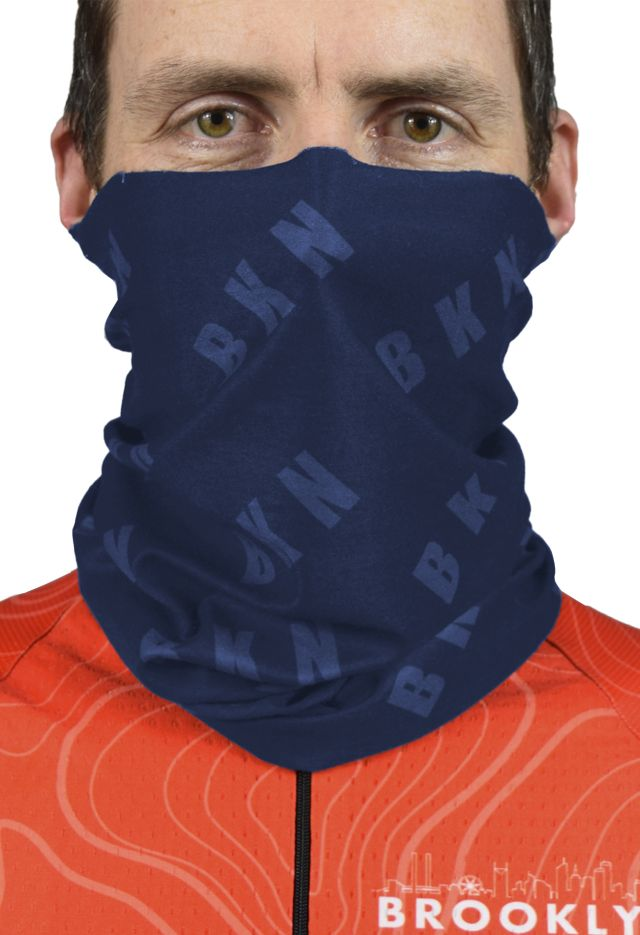 Neck Warmer Front NAVY