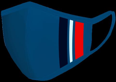 Midnight blue Stripe Mask