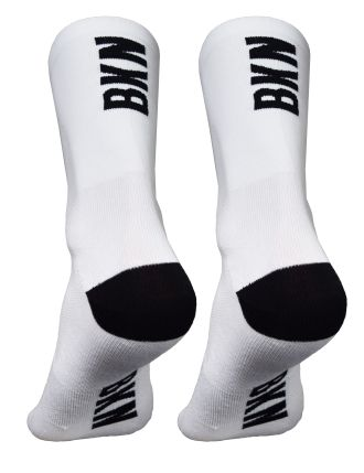 BKN Solid WHITE Socks